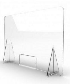 mampara de metraquilato con ventana 4 mm, 100 x 65 cm